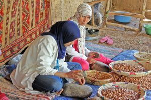 May 28, 2012: Women work in a cooperative for the manufacturing of argan fruits